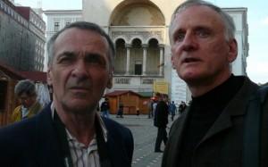 Timisoara-jurnalistii-Michel Clair şi Rejean Roy au revenit la Timişoara după 20 de ani