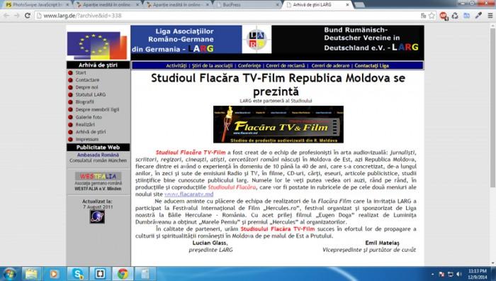 02-01-2015-FlacaraTV-LARG -Germania saluta lansarea site FlacaraTV-md-800px