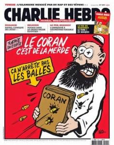 10-01-2015-Charlie Hebdo- Caricatura-Coran-scut