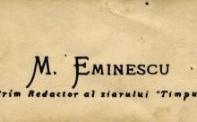 Carte de vizita Mihai Eminescu (originala)-copy timpul.md