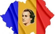 Eminescu Mihai-colaj cu tricolor