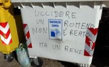 Inscriptie rasista Italia-indemn ucide romani-gazetaromaneasca-com