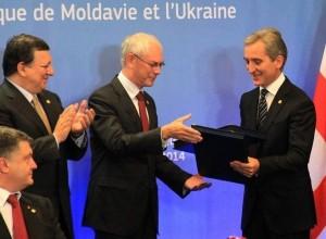 Iurie Leanca la semnarea Acordului RM cu UE-Bruxelles-26martie2014