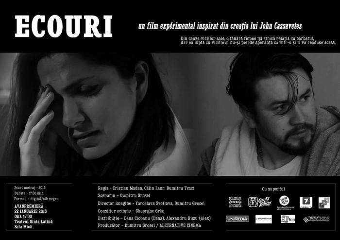 cineSTIRI-premiera scurtmetraj Ecouri-Afish