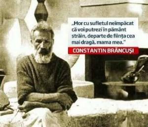 Brancusi-foto cu inscriptie-regret ca moare in strainatate-L.Stanchescu