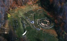 Cetatea Dacica Sarmizegetusa din helicopter-wonderfulromania.ro