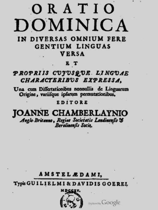 Chamberlayne 2-Tatal nostru limba celtica -foie titlu carte