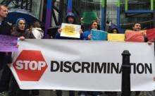 Channel 4-proteste Londra-STOP DISCRIMINARE