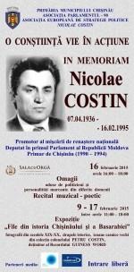 Comemorare Nicolae Costin-AFISH primarie Chisinau