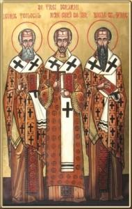 Icoana Sf. Trei_Ierarhi-Grigorie-Ioan Gura de Aur-Vasile cel Mare