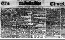 Publicatia The Times 1-30 nov 1867