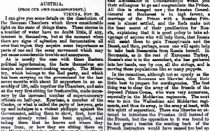Publicatia The Times 2-30 nov 1867
