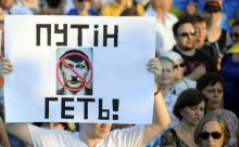 Putin egal Hitler-captura video proteste in Ucraina