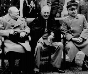yalta-conference1945 -veselie mare dupa impartirea Europei si Lumii