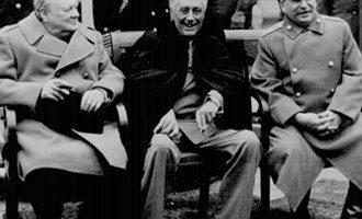 yalta-conference1945 -veselie mare dupa impartirea Europei si Lumii-320