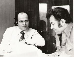 Compozitorul Eugen Doga si regizorul Emil Loteanu