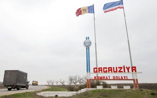 Gagauzia-inscriptie pe autostrada