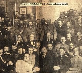 Sfatul Tarii-dupa votarea Unirii 1918-foto ziar