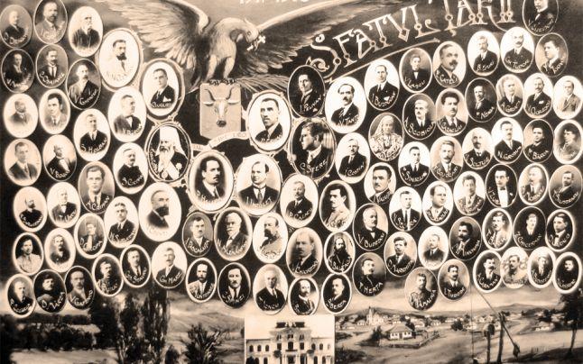Sfatul Tarii-viniet cu deputati care au votat Unirea-Arhiv Bucuresti-646x404