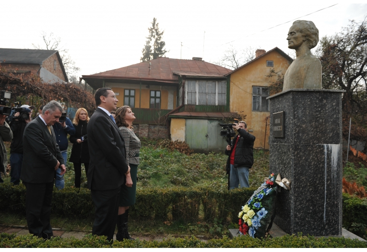Casa Aron Pumnul Cernauti-vizitata de Victor Ponta 7 noiembrie 2014