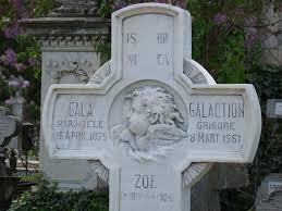 Gala Galaction-Cruce de piatra de pe mormant-Cernica