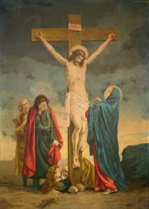 Hristos Rastignit si Maica Domnului vorbind cu El
