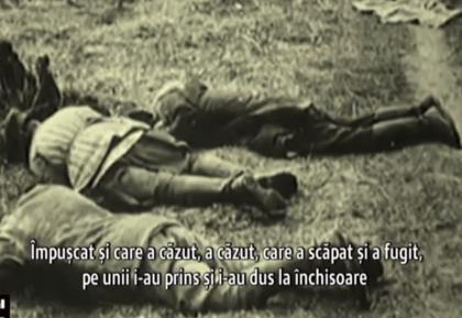 Masacrul de la Fantana Alba-arhive istorice-romani impuscati-captura video digi24.ro