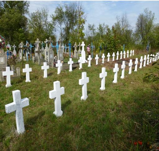 Masacrul de la Mahal-Lunca-cimitirul-Bucovina de Nord