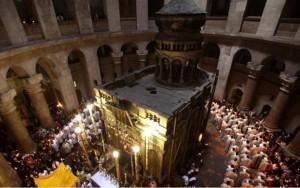 Mormantul Sfant la Invierea Lui Hristos