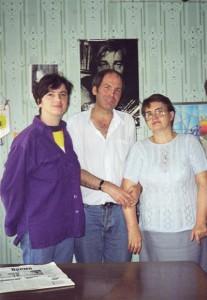 Vlad Pohila-Luminita Dumbraveanu si Raisa Belicov la Radio Moldova 1999-400px