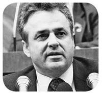 Mircea Dric-premier-la tribuna Parlamentului 1990