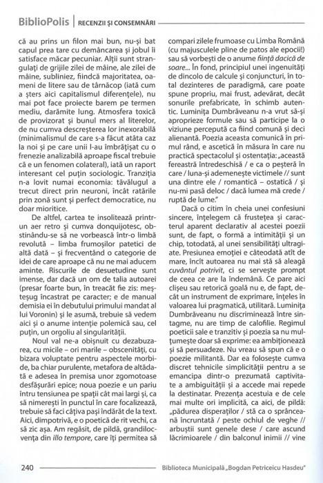 Revista BiblioPolis nr4-2014-Cronica Ghenadie Nicu cartea Luminita D-pag 2-700px