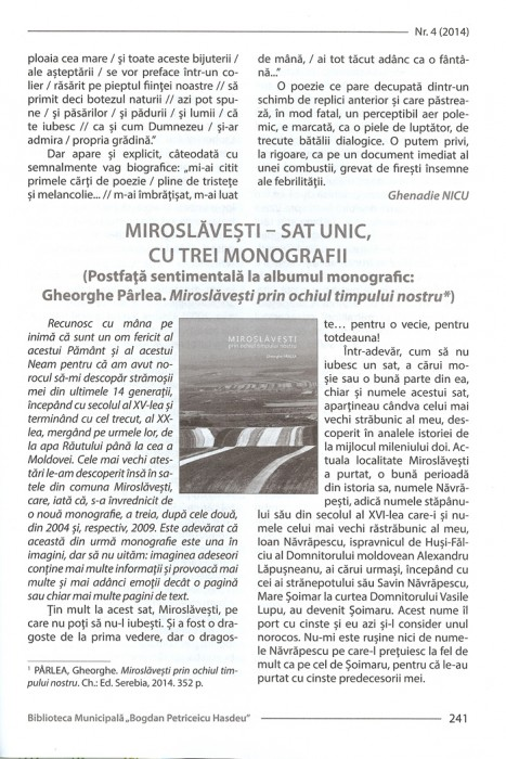Revista BiblioPolis nr4-2014-Cronica Ghenadie Nicu cartea Luminita D-pag 3-700px
