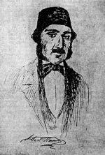 Anton Pann-portret creion