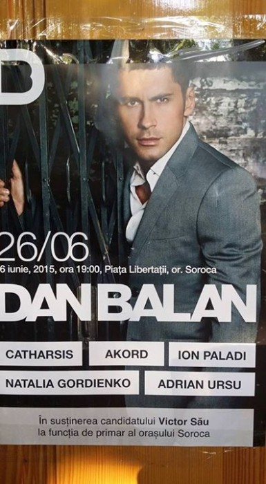 Dan Balan-afish Soroca