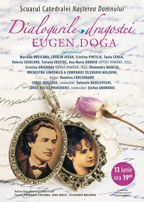 Eugen Doga-Spectacol Dialogurile Dragostei-AFISH-13 iunie 2015