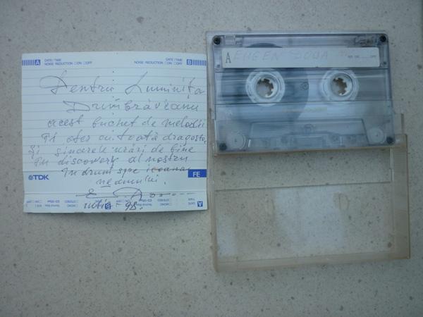 Eugen Doga-caseta cu melodii daruita Luminiti Dumbraveanu-iulie1998-600px
