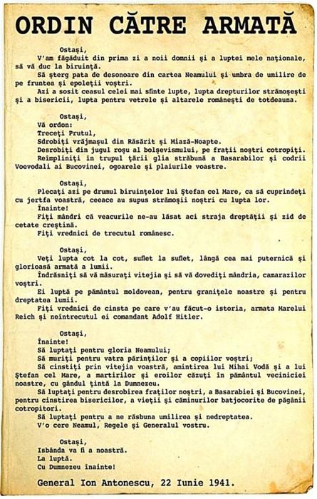 ORDIN catre Armata Romana-22-iunie1941-800px