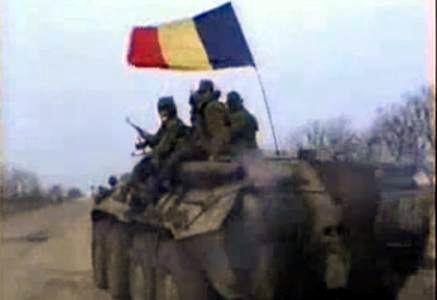 Transnistria_combatanti Moldova-Tricolor romanesc
