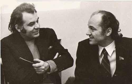 Eugen Doga si Emil Loteanu cu luleaua-Mosfilm-500px