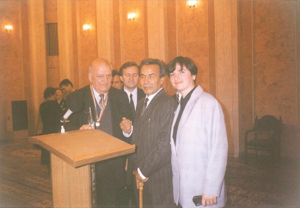 Eugeniu Coseriu la Chisinau-cu D.Matcovschi si LD-26 sept 1998-600px