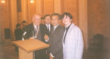 Eugeniu Coseru la Chisinau-cu Dumitru Matcovschi si Luminita Dumbravanu-septembrie 1998