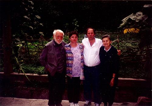 Raoul Sorban-acasa la Cluj-sotia Eva-Luminita Dumbraveanu si Vlad Pohila-2000