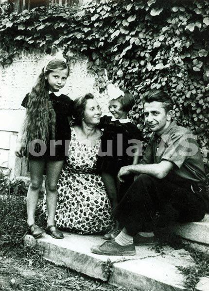 Doina Uricariu-5-cu sora si parintii In paradisul de la Baneasa