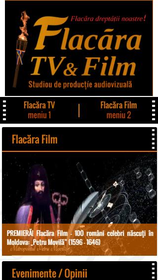 1-FlacaraTV-md pe tel mobil-LOGO-meniuri-din 25-12-2015