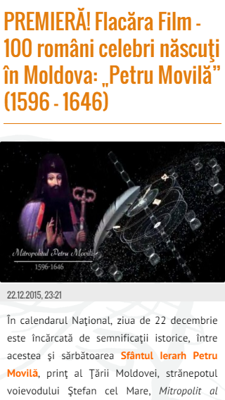 10-FlacaraTV-md pe tel mobil-filmul Flacara Petru Movila-titlu din 25-12-2015