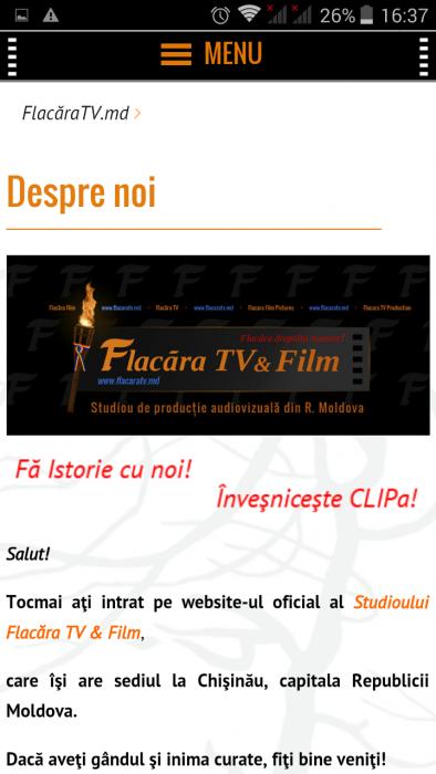 12-FlacaraTV-md pe tel mobil-Pagina statica Despre noi-din 25-12-2015