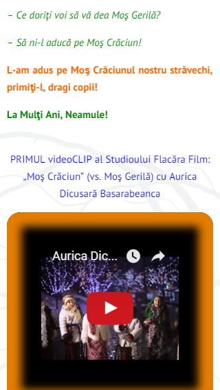 9--FlacaraTV-md pe tel mobil-vdeoCLIP Mos Cracun-video-din 25-12-2015