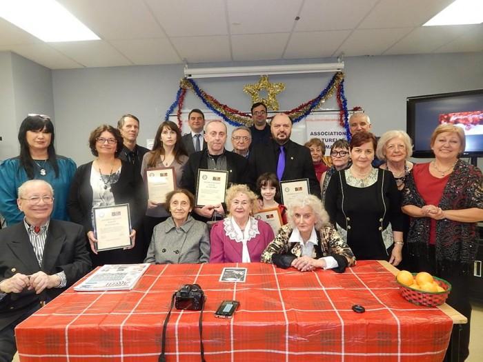 CMQ- ACR-Diplome de Excelenta diaspora Canada-foto de GRUP-10-12-2015