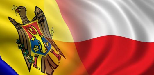 Drapele Moldova-Polonia-colaj